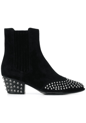 Ash studded ankle boots - Black