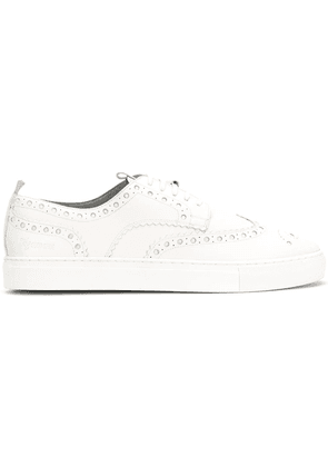 Grenson brogue sneakers - White