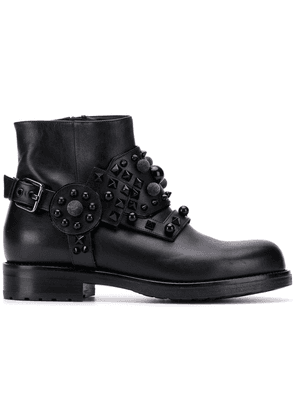 Albano studded ankle boots - Black