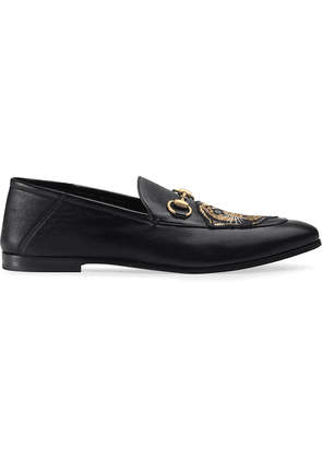 Gucci Leather Horsebit loafer with panther - Black