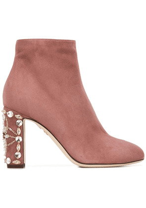 Dolce & Gabbana zip-up ankle boots - Pink