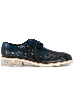 Diego Vanassibara perforated derby shoes - Blue