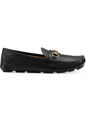 Gucci Leather driver with Horsebit - Black