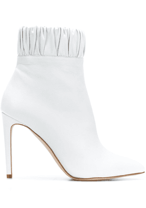 Chloe Gosselin gathered ankle boots - White