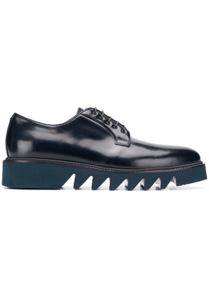Cesare Paciotti track sole derby shoes - Blue