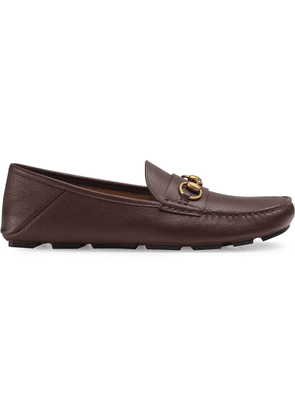 Gucci Leather driver with Horsebit - Brown