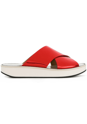 Flamingos open-toe sandals - Red