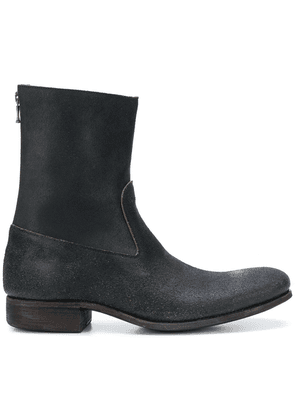 Carpe Diem rear zipped ankle boots - Black
