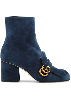 Gucci Suede ankle boot with Double G - Blue