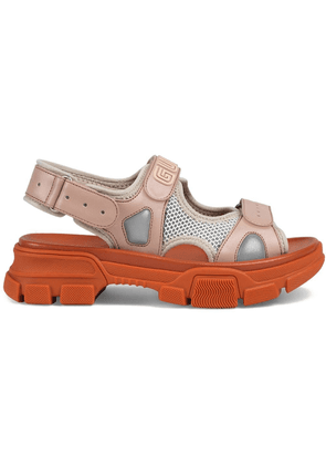Gucci Leather and mesh sandal - Pink