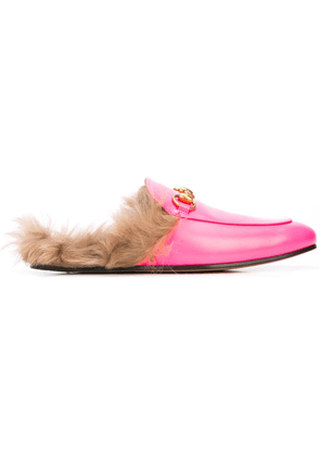 Gucci Princetown fur lined loafers - Pink