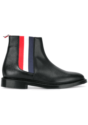 Thom Browne striped detail Chelsea boots - Black