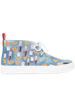 Del Toro Shoes patch detail lace-up sneakers - Blue