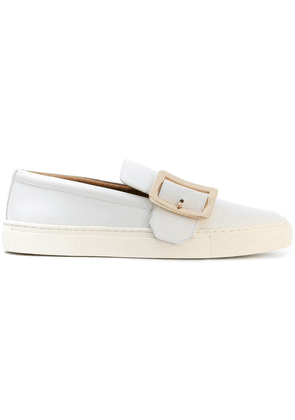 Bally buckled front slip-on sneakers - White