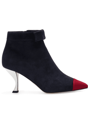 Thom Browne bow ankle boots - Blue