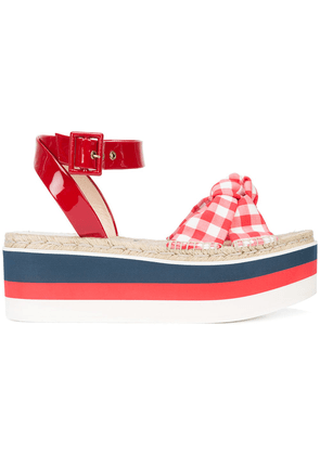 Gucci stacked sole sandals - Red