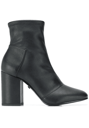 Grey Mer chunky heeled boots - Black