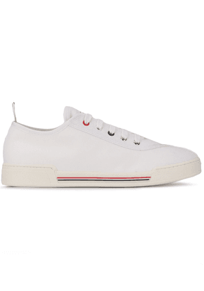 Thom Browne canvas lace-up sneakers - White