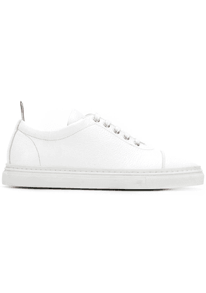 Thom Browne 4-Bar Emboss Leather Trainer - White