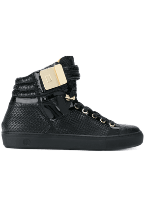 Giuliano Galiano Soul Python hi-tops - Black