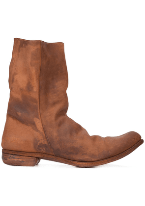 A Diciannoveventitre relaxed distressed boots - Brown