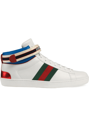 Gucci Gucci stripe Ace high-top sneakers - White