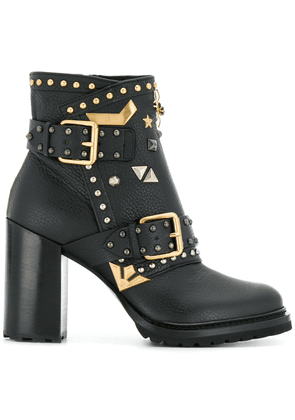 Fabi embellished ankle boots - Black