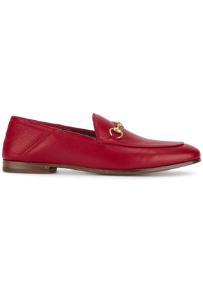 Gucci Red Brixton leather loafers