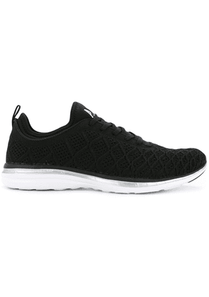 Apl textured lace-up sneakers - Black