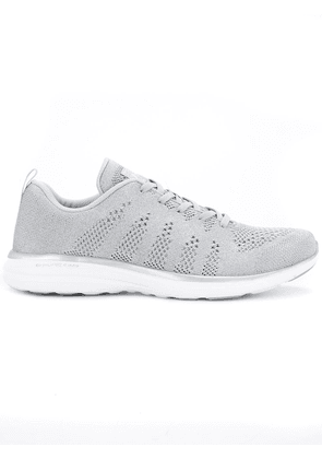 Apl perforated lace-up sneakers - Grey