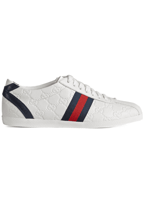 Gucci Guccissima leather lace-up sneaker - White