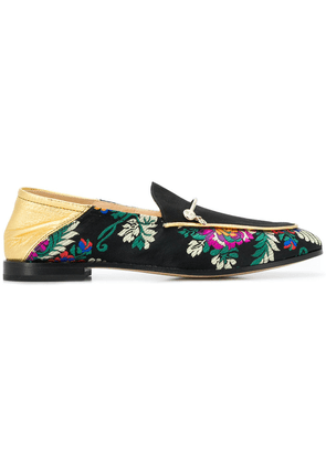 Fabi floral embroidered loafers - Black