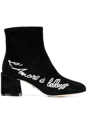 Dolce & Gabbana embroidered ankle boots - Black