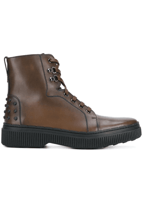 Tod's lace-up Chelsea boots - Brown