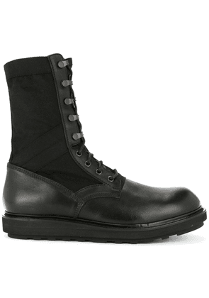 Isabel Benenato lace-up ankle boots - Black