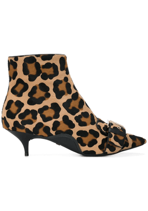 No21 leopard patterned booties - Brown