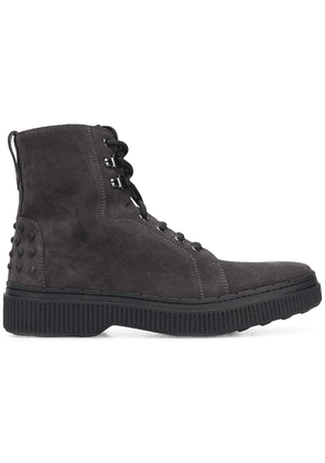 Tod's lace up boots - Grey