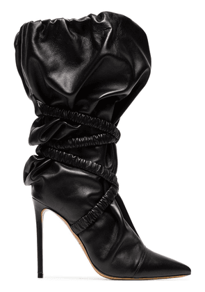 fd0ed6ee8aa Alexandre Vauthier Patent Leather Alex Boots in Black | MILANSTYLE.COM