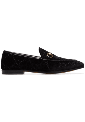 Gucci Jordaan GG Velvet Loafers - Black