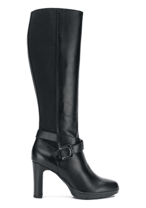 Geox buckled knee-length boots - Black