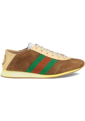Gucci Suede sneakers with Web - Brown