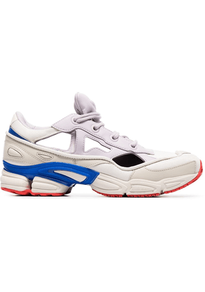 Adidas By Raf Simons white, red and blue Ozweego Sneakers with Socks