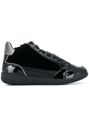 Geox varnished panel sneakers - Black