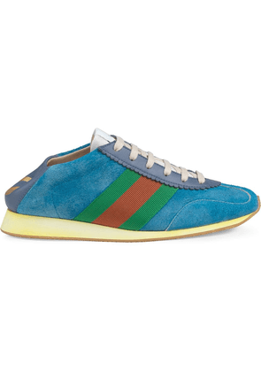 Gucci Suede sneaker with Web - Blue