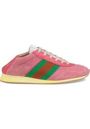 Gucci Suede sneakers with Web - Pink