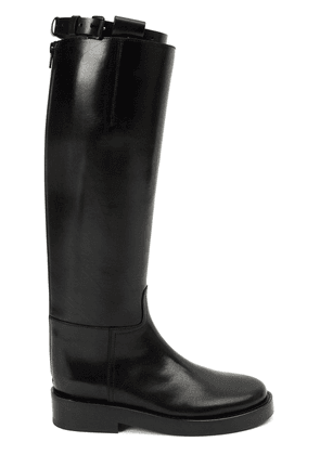 Ann Demeulemeester Blanche buckled strap knee boots - Black