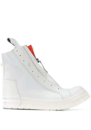 Cinzia Araia structured high top trainers - White