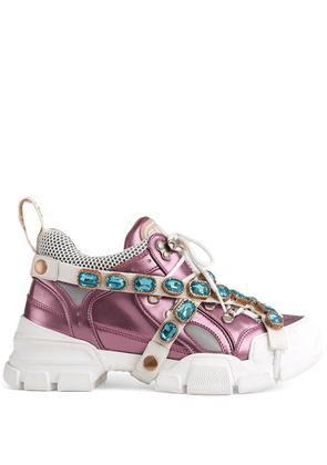 Gucci Flashtrek sneakers with removable crystals - Pink