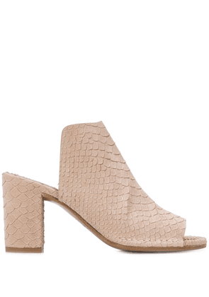 Del Carlo open toe mules - Brown