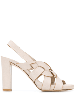 Del Carlo strappy detail sandals - Neutrals